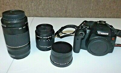 Canon - EOS Rebel T7i DSLR Camera with 18-55mm; 55-250mm & 2.2x58mm Lenses