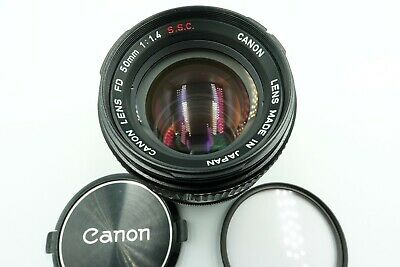 [ Near MINT] Canon FD 50mm f/1.4 S.S.C SSC MF Prime Lens for FD Mount From Japan