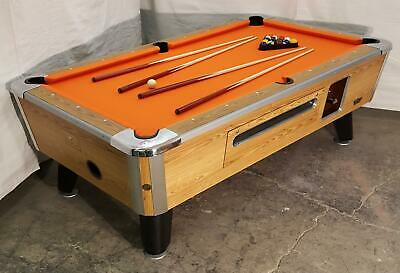 Valley Cougar Comm Bar Size 7' Coin-Op Pool Table  Zd-6  Refurbished In Orange