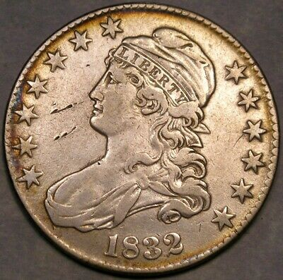 1832 Capped Bust Lettered Edge Silver Half Dollar Higher Quality Touch Of Toning
