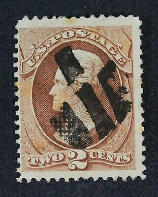 CKStamps: US Stamps Collection Scott#135 2c Jackson Used Tiny Tear