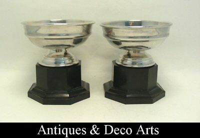 2 Art Deco EPNS Silver-plated Metal & Bakelite Trophy Cups