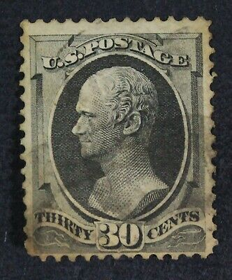 CKStamps: US Stamps Collection Scott#165 30c Hamilton Used Toned CV$140