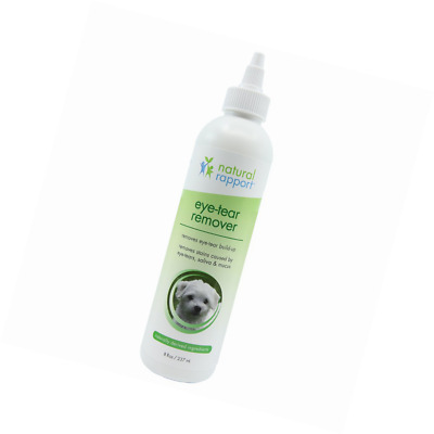 Natural Rapport Eye Tear Stain Remover for Cats & Dogs - Pet Eye-Tear, 8 fl oz.