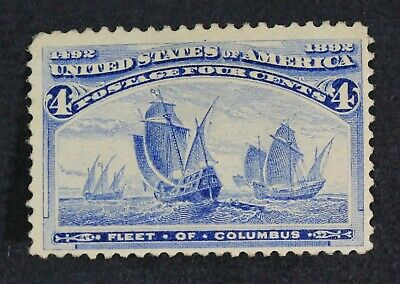 CKStamps: US Stamps Collection Scott#233 4c Columbian Unused Regum