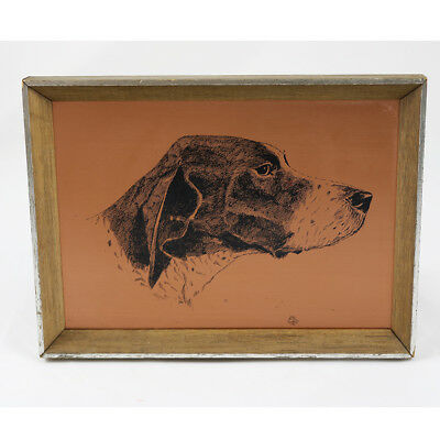 Vintage Coppercraft Etching - German Shorthaired Pointer / Gundog - Wall Plaque