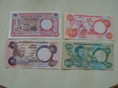 Nigeria - Collection Of Four Different Banknotes - Free Uk Postage