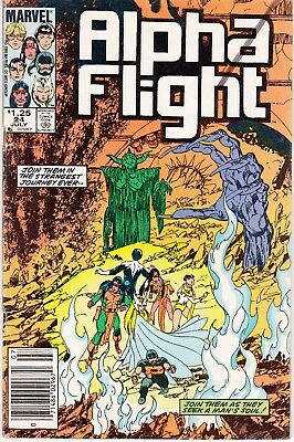 Alpha Flight #24 1985 ''journey For Man's Soul'-Final Conflict  Byrne/o'neil..vg