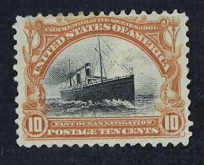 CKStamps: US Stamps Collection Scott#299 10c Mint H Part Gum Crease Tiny Thin