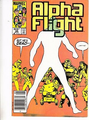 Alpha Flight  #25 1985 ''guardian Returns'' Graves Giveup Dead  Byrne/o'neil.fn+