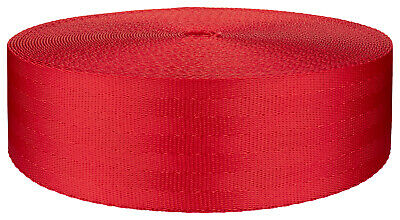 2 Inch Seat-belt Christmas Red Polyester Webbing Closeout, 50 Yards
