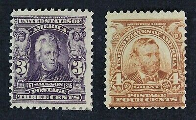 CKStamps: US Stamps Collection Scott#302 Mint H OG, #303 Unused Regum