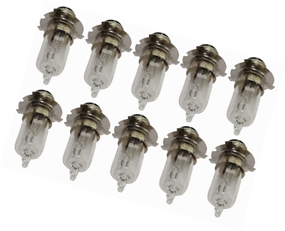 Aerzetix - 10 lights bulbs P15D-25-3 12V 35/35W for motorcycle scooter.