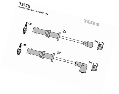 Tesla T975B Ignition Cable Kit