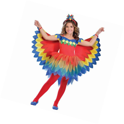 Amscan Girls Pretty Parrot Fairy Costume Kids Fancy Dress