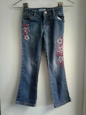 Cherokee Girls Jeans With Embroidered Stars Size 5