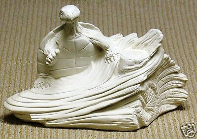 Ceramic Bisque Turtle on Stump TL Design Mold 567 U-Paint Ready To Paint