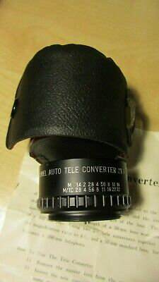 Kestral Auto Tele Converter 2x For Pentax Made in Japan & Case