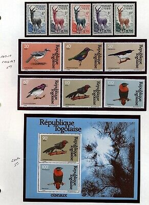 Togo Topical collection Birds,flowers,Fish Mint  in mounts jp