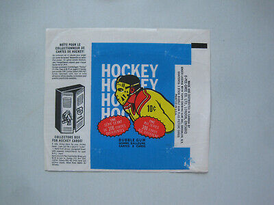 1974/75 O-Pee-Chee Hockey Card Empty Wax Pack Wrapper Scotty Bowman Rookie Opc