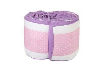 Baby Cot Bumper Pink Purple Rising Dragon Fly Girl 4 Piece Set