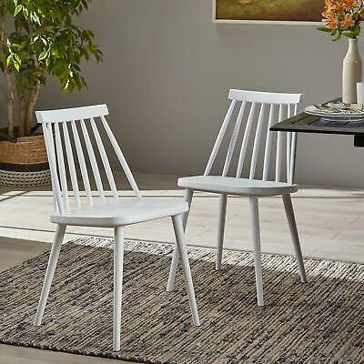 Dunsmuir Farmhouse Spindle-Back Dining Chair (Set of 2) by Christopher Knight