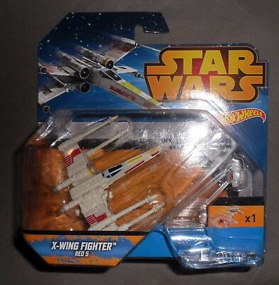 Star Wars Hot Wheels Y-WING FIghter Gold Leader modellino base ad anello nuovo