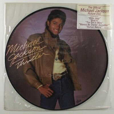MICHAEL JACKSON Thriller EPIC LP VG+ picture disc