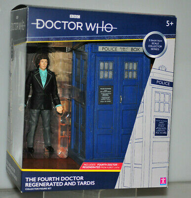 DOCTOR WHO CLASSIC FIGURE SET THE 4th FOURTH DOCTOR REGENERATED + TARDIS
