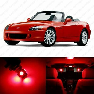 12 Pieces #496 Brilliant Red Interior LED Package For Audi A6//S6 C5  1998-2004