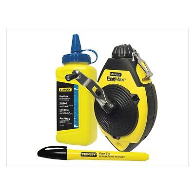 [2 Pack] Stanley Tools FatMax Chalk Line Set 30m