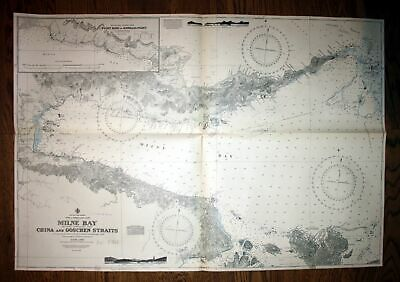 1944 Pacific Papua Coast Milne Bay China Goschen Strait Australien Australia map