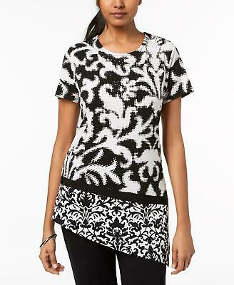 c7880d73628 JM Collection 9345 Size Large L White Printed Blouse Top Embellished  54