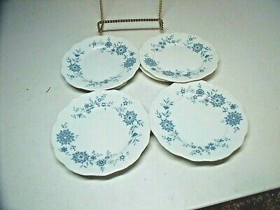 4 BAVARIAN BLUE CHRISTINA Porcelain Seltmann Weiden W. Germany BREAD & BUTTER