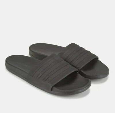 267559588583 New Adidas Mono Slides Sandals Black Flip Flops Cloudfoam Plus Mens 7  Womens 9