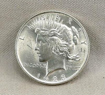 1923 Brilliant Uncirculated Peace Silver Dollar! No Reserve!
