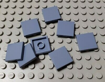10x LEGO NEW 2x4 Sand Blue Tile 6124349 6052832 Brick 87079