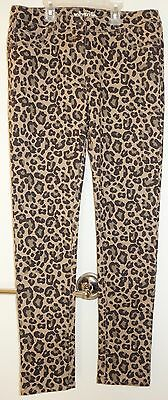 New Boden Johnnie B Leopard Print Skinny Jeans Girl's Size 28R / 13-14