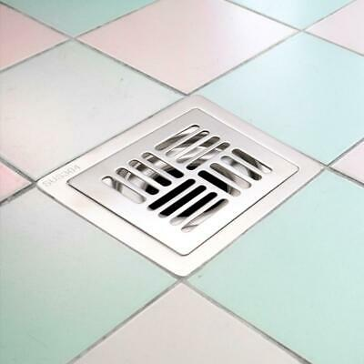 3.5 Inch Shower Room Stainless Square Double Self Sealing Deodorant Floor Drain
