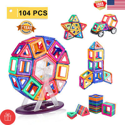 104pcs Magical Magnetic Kit Building Blocks Set 3D Tiles DIY Toys Gift For Kids
