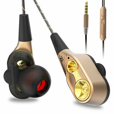 7D HIFI In-Ear Earphone Dual Dynamaic Driver Super Bass Stereo Headphone Headset