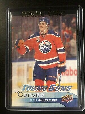 2016-17 UD Upper Deck Jesse Puljujarvi Young Guns Canvas rookie card OILERS