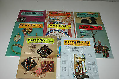 Spinning Wheel Magazine Antiques Lot of 8 1974  L#275