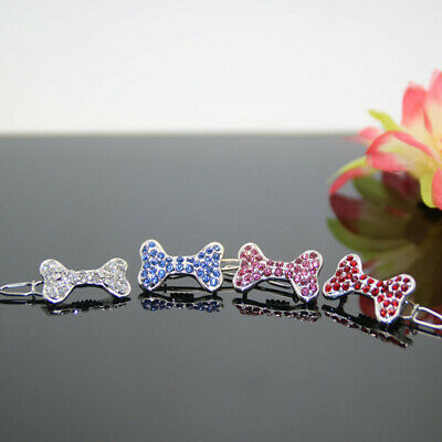 1PC Matching Pet Dog Cat Puppy Hair Clips Bling  Crystal Hairpin Accessory