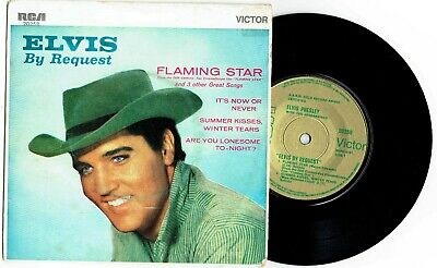 "ELVIS PRESLEY - ELVIS BY REQUEST - 7"" EP RECORD w PICT SLV - A.A.R.M. GOLD LABEL"