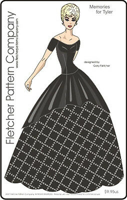 Memories Dress Doll Clothes Sewing Pattern for Tyler Fletcher Tonner