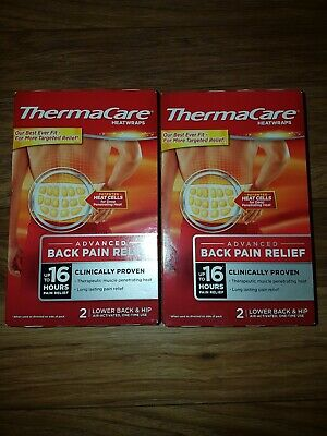 ThermaCare heatwraps 16 hour pain relief lower Back & hip pain pack of 2 patche