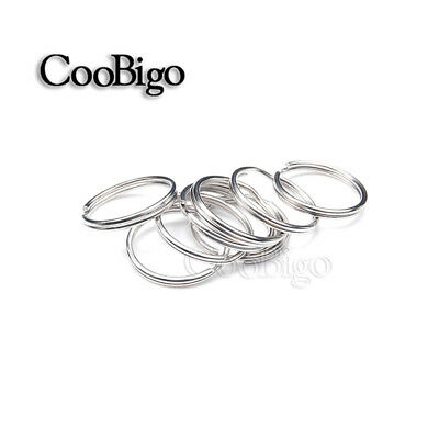 "3/4"" (20mm) Outer Diameter Silver Key Rings Key Chain Split O-Rings"