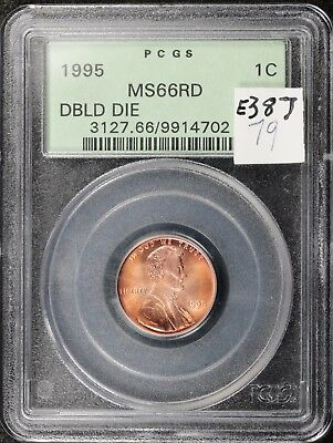 1995 Lincoln Head Cent.  Double Die Obverse.  In PCGS Holder MS6 Red.   e387