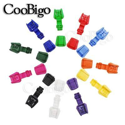 15X Colorful Plastic Zipper Pull Cord End Cord Lock for Clothing Bag Accessories